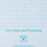 Afbeelding vanHeart to get N11CRO11S 2 Love hope and protection ketting zilver