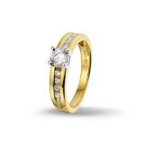 Afbeelding vanHuiscollectie 4206199 Bicolor gouden ring Maat 47 is 15 mm