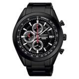 Afbeelding vanSeiko SSB179P1 Chrono horloge herenhorloge Hoge Marge Zwart