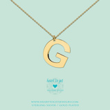 Afbeelding vanHeart to get LB148ING16G Big Initial letter G including necklace (40 +