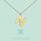 Afbeelding vanHeart to get LB155INN16G Big Initial letter N including necklace (40 +