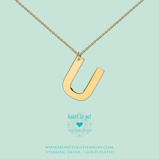 Afbeelding vanHeart to get LB162INU16G Big Initial letter U including necklace (40 +