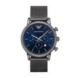 Afbeelding vanArmani herenhorloge AR1979 horloge Blauw,Grijs,Zilverkleur