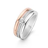 Afbeelding vanTI SENTO Milano Ring 12094ZR Zilver met een roségouden plating Maat 48