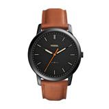 Afbeelding vanFossil FS5305 The Minimalist horloge herenhorloge Bruin,Zwart