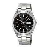 Afbeelding vanSeiko SNE039P1 Solar horloge herenhorloge Zilverkleur