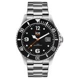 Afbeelding vanICE Watch IW016032 Steel Black Silver horloge 44 mm herenhorloge Zilverkleur