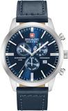 Afbeelding vanSwiss Military Hanowa 06 4308.04.003 herenhorloge blauw edelstaal