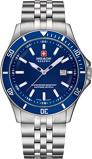 Afbeelding vanSwiss Military Hanowa 06 5161.2.04.003 herenhorloge blauw edelstaal