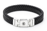 Afbeelding vanRebel and Rose Armband Braided Flat Black 21 cm RR L0014 N
