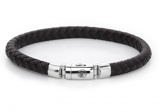 Afbeelding vanRebel and Rose Armband Half Round Braided Black Earth 19,5 cm RR L0061 S M