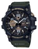 Afbeelding vanCasio G Shock Master of GWG 100 1A3ER Mudmaster horloge herenhorloge Groen,Zwart