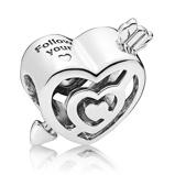 Afbeelding vanPandora 925 Sterling Zilveren Labyrinth Heart Bedel 797814