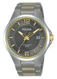 Afbeelding vanPulsar PS9615X1 Titanium horloge herenhorloge Grijs,Goudkleur