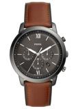 Afbeelding vanFossil FS5512 Horloge Neutra Chrono staal/leder 40 mm