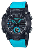 Afbeelding vanCasio G Shock GA 2000 1A2ER Horloge Carbon Core Guard blauw 51,2 mm