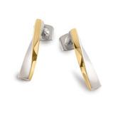 Afbeelding vanBoccia 05035 03 Oorbellen titanium goud en zilverkleurig