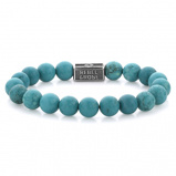 Afbeelding vanRebel and Rose RR 8S001 S L Armband Turquoise Delight 925 8mm 19.0