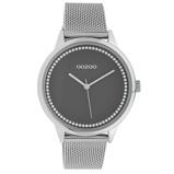Afbeelding vanOOZOO C10091 Horloge Timepieces Collection staal zilverkleurig 40 mm