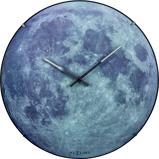 Afbeelding vanNeXtime NE-3164 Wandklok Dia. 35 Cm, Bol Glas, 'blauw Moon Dome'