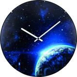 Afbeelding vanNextime NE-3176 Wandklok Dia. 35 Cm, Bol Glas, 'Globe Dome'