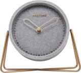 Afbeelding vanNeXtime Cross Table tafelklok (Kleur: roségoud/grijs)