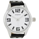 Afbeelding vanOOZOO C1003 Horloge Timepieces Collection zwart wit 51 mm