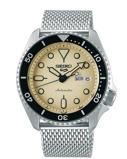 Afbeelding vanSeiko 5 Sports SRPD67K1 herenhorloge automaat creme wijzerplaat 42,5 mm