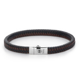 Afbeelding vanRebel and Rose RR L0071 S L Armband Small Braided Black Earth 7mm 21.0