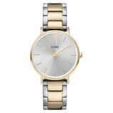 Afbeelding vanCluse CW0101203028 Minuit horloge dameshorloge Goudkleur,Zilverkleur