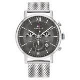 Afbeelding vanTommy Hilfiger TH1710396 Horloge Chronograaf Evan zilverkleurig grijs