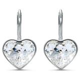 Afbeelding vanSwarovski 5515191 - Bella Pe Heart - Zilverkleur - Oorstekers Oorbellen horloge Zilverkleurig
