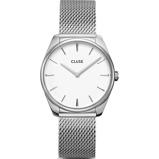 Afbeelding vanCluse CW0101212001 Féroce horloge dameshorloge Wit,Zilverkleur