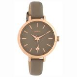 Afbeelding vanOOZOO C10387 Horloge Timepieces staal/leder Taupe 38 mm