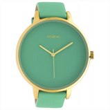 Afbeelding vanOOZOO C10573 Horloge Timepieces Biscay staal/leder Green 48 mm