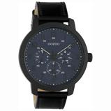 Afbeelding vanOOZOO C10509 Horloge Timepieces staal/leder black deepblue 45 mm