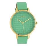 Afbeelding vanOOZOO C10593 Horloge Timepieces staal/leder biscay green 42 mm
