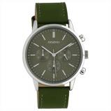 Afbeelding vanOOZOO C10596 Horloge Timepieces staal/leder olive 40 mm
