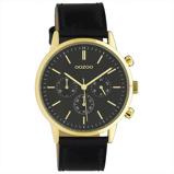 Afbeelding vanOOZOO C10598 Horloge Timepieces staal/leder black 40 mm