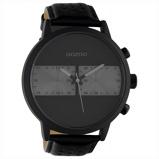 Afbeelding vanOOZOO C10519 Horloge Timepieces staal/leder black 50 mm