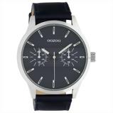 Afbeelding vanOOZOO C10536 Horloge Timepieces staal/leder darkblue 48 mm
