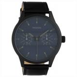 Afbeelding vanOOZOO C10539 Horloge Timepieces staal/leder darkblue black 48 mm