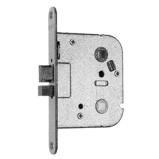 Afbeelding vanNemef 55/8 insteek toilet of badkamerslot doornmaat 55 PC voorplaat afgerond