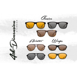 Afbeelding vanKorda 4th Dimension Zonnebril 'Wraps Gloss Black/Brown Lens'