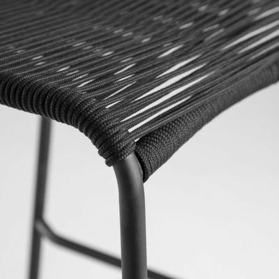 Afbeelding van 2x LaForma Barstoel Glenville Zwart 74 cm
