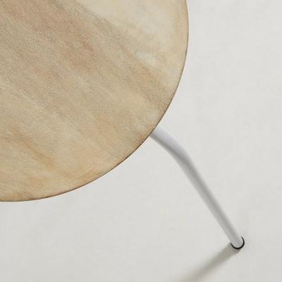 Afbeelding van 2x LaForma Nax kruk wit metaal