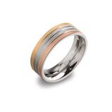 Afbeelding vanBoccia titanium ring tricolor 0135 03 maat 54/17.25